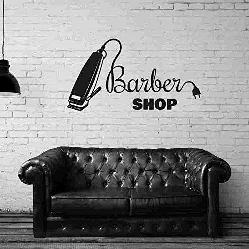 Tianpengyuanshuai Barber Shop Stickers vinilos Personalizados decoración Barber Razor Barber Shop Decal 42X59cm
