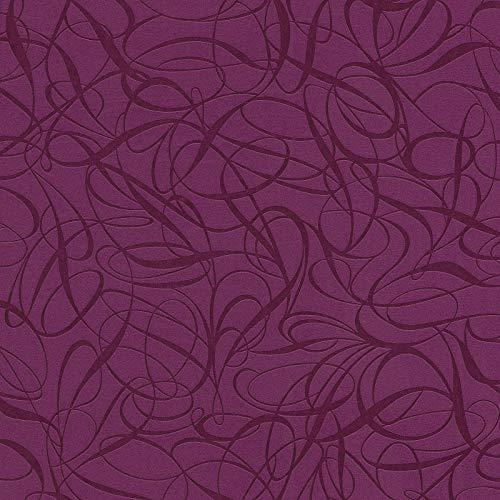 Vliestapete Moderne Tapeten Schöne Tapeten Tapeten-Trends Tapeten Wohnzimmer 132024 13202-4 Livingwalls Styleguide Jung | Silber Violett/Lila | Muster (21 x 29,7 cm)