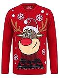 Weihnachtspullover mit LED-Licht Rudolph
