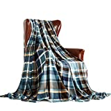 MERRYLIFE Throw Blanket Plaid Sherpa | Ultra-Plush Soft Colorful Oversized | Decorative Couch Travel Blanket | Large Size(60' 90', Greenland)