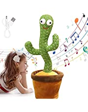 Wriggle Dancing Cactus Repeat What You say ,Sing Cactus Mimicking Toy,Funny Dancing Cactus Luminous Toy, Early Childhood Education Toys Sing+Repeat+Dance+Recording+LED