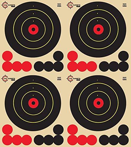 Reactive Targets Adhesive Target 4.5' Four Bulls Eye Target - Biggest Reactive/Splatter Effect Providing Visual Feedback & Easy Hit Identification 11' H x 12' W