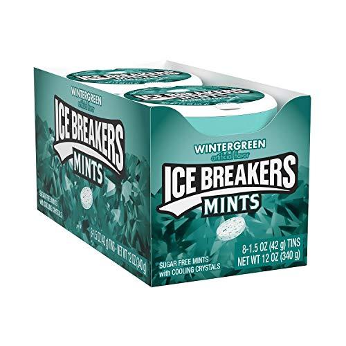 Ice Breakers Mints Wintergreen - Pfefferminz Bonbons, 8 Stück (8 x 42 g)