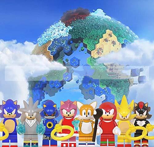 Sonic Spielblöcke 8 Stück / Set Sonic Boy Sonic Eierkopf Dr. Ray Reibke Blaze Stone Zusammengebaute Partikelblöcke