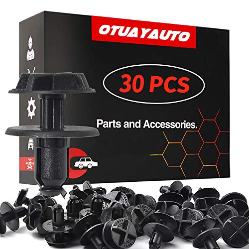OTUAYAUTO Replacement for Ford F150, Mustang, Fusion Battery Cover Clips - Fender Liner Rivet Radiator Sight Shield Push - 30PCS Replace W705957-S300 W706519-S300