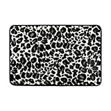 Tapis de Sol Tapis imprimé léopard Animal zèbre antidérapant pour Salon Maison Chambre Tapis décoratifs paillassons 23.6x15.7 Pouces