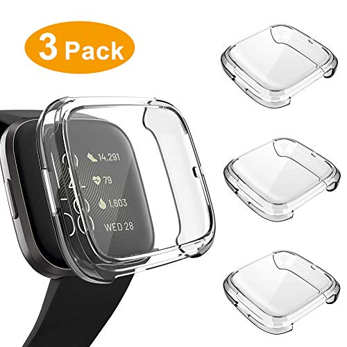 3 Pack Screen Protector Compatible Fitbit Versa 2 Case, GHIJKL...