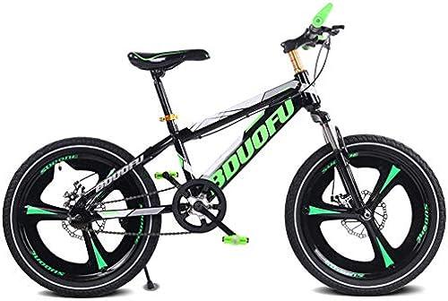 LHLCG 16 18 20 Zoll Kinder Mountainbike Doppelscheibenbremsen D fung Single Speed  ntegrierte Rad fürrad