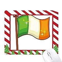 アイルランドの国旗の日の聖パトリックの輝き ゴムクリスマスキャンディマウスパッド