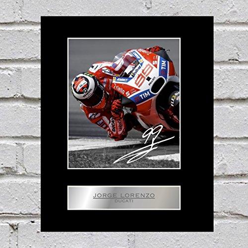 Jorge Lorenzo, signiertes Foto zum Aufhängen und Ausstellen, Ducati