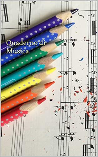Quaderno di Musica: Quaderno di Musica pentagrammato PianoArt, 107 pagine pentagrammate formato A4 con carta avorio, 12 pentagrammi per pagina. Copertina lucida e flessibile.