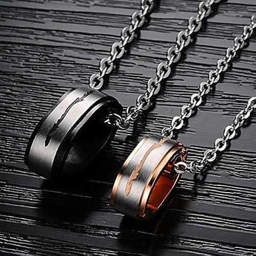MGS-Halsketten Schmuck @ Anh erketten Titanstahl Hochzeit   Party   Alltag   Normal Schmuck , Gold schwarz