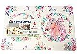 Oceano Tovagliette Americana Plastica Lavabili 6 Pezzi 28x43 cm -Decorato Unicorno