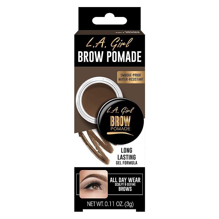 純粋に貫入トロリーL.A. GIRL Brow Pomade - Soft Brown (並行輸入品)
