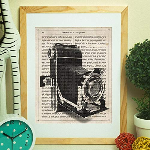 Nacnic Poster de Camara Antigua Kodak. Láminas de cámaras de Fotos Antiguas. Decoración de fotografía. Tamaño A4