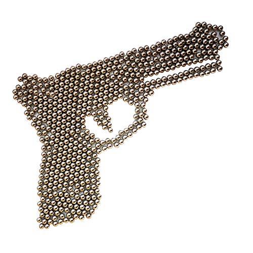 GM&BW 4000 municiones de 4.5mm(.177cal) Airsoft BB de Acero,Niquelado por Antióxido, Embalaje Resellable