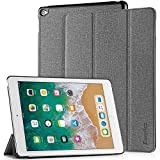 EasyAcc Hülle für iPad Air 2, Ultra Slim Cover Schutzhülle PU Lederhülle mit Standfunktion/Auto Sleep Wake Up Funktion Kompatibel für iPad Air 2 2014 Modell Number A1566/A1567 - Grau