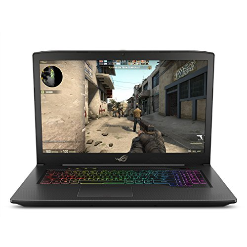 "ASUS ROG Strix GL703VM Scar Edition 17.3"" 120Hz Gaming Laptop, GTX 1060 6GB, Intel Core i7-7700HQ 2.8 GHz, 16GB DDR4 RAM, 256GB PCIe SSD + 1TB SSHD, RGB Keyboard"