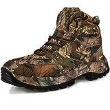 RatenKont Zapatos Senderismo al Aire Libre para Hombre Botas Senderismo Impermeables para Escalada montaña Botas Caza tácticas Transpirables Brown(Low-Top) 13
