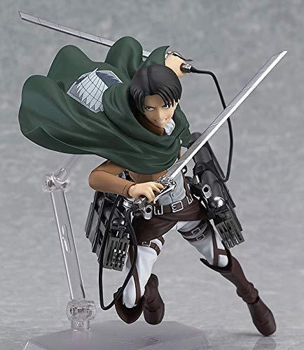 Attack on Titan Action Figure Levi Ackerman Combattimento mobile Version Pop Figura Action PVC Statue Regali da collezione Statue Anime Model Decoration 15cm