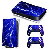 3CTOP High Qulaity Sticker Skin Protector Decals for PS5 Playstation 5 Console and 2 Controllers 7#