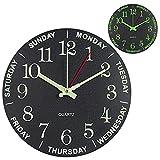 Reloj de Pared de Luminoso, 30cm Reloj Pared Grande Moderno, Vintage Decorativo Reloj Pared de Cuarzo Silencioso para Cocina, Salon, Oficina y Dormitorio, Oficina, Regalos para La Casa