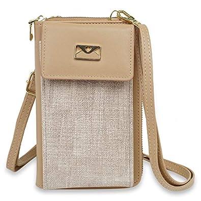 NFI essentials Girls Women Women's Mobile Cell Phone Holder Pocket Wallet Hand Purse Clutch Crossbody Sling Bag