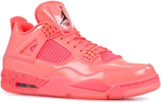 Nike Jordan Womens Retro 4 Hot Punch/Black/Volt Leather Basketball Shoes 8.5 M US
