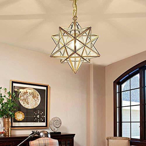 Hanglamp LED Star hanglamp warmwit hanglamp indoor loodkristal hangende kerstdecoratie kristal hangende bedlampje kerstverlichting tafeldecoratie raamdecoratie, 40cm
