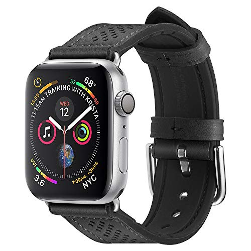 Spigen Apple Watch 42mm/44mm Cinturino, Retro Fit Progettato per Apple Watch 42mm/44mm Series 5/ Series 4 Cinturino in Pelle -Nero