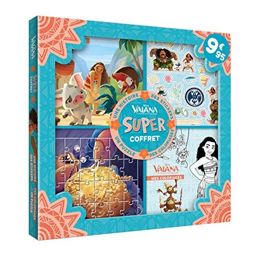 VAIANA - Super Coffret - Une histoire, des coloriages, des stickers, un puzzle - Disney: .: .
