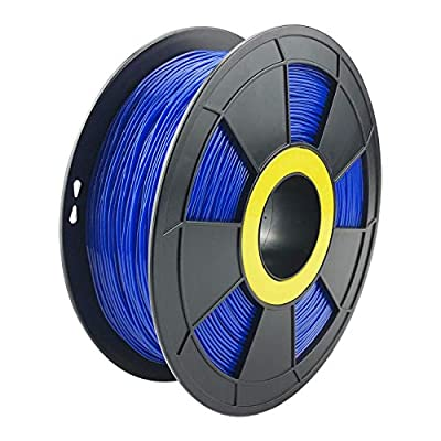 ZIRO Flexible TPU Filament 1.75mm,3D Printer Filament 1.75mm TPU Flexible Filament 0.8KG Spool, Dimensional Accuracy +/- 0.05mm,Blue