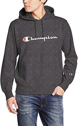 [チャンピオン] (旧モデル) パーカー スウェット 裏毛 定番 スクリプトロゴ フーデッドスウェットシャツ C3-J117 メンズ ヘザーチャコール L