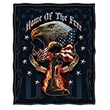Large Throw Blanket 50 x 60| Home of The Free Throw Blanket MM141-TB