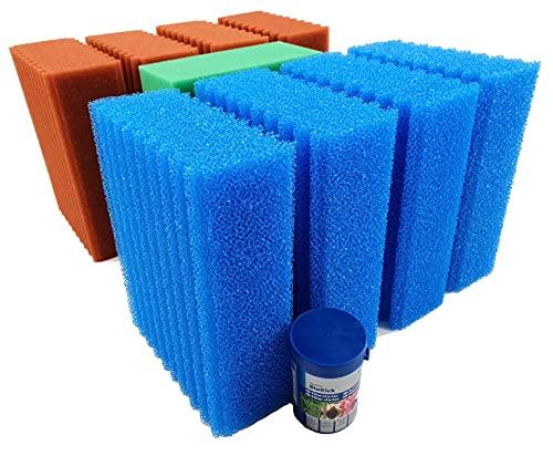 Original Oase Filterschwamm Set für Biotec 10.1 (4x blau, 4x rot, 1x grün) inkl Filterstarter