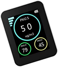 Angoily Monitor de Calidad Del Aire Probador de Aire de Contaminación Del Aire Detector de Calidad Del Aire Interior Dispositivo de Prueba AQI PM2. 5 PM10 PM1. Monitor de Polvo de 0