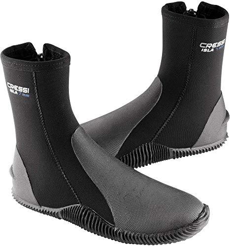 Cressi Unisex-Adult Isla W/Sole Boots 7mm Buty do nurkowania z neoprenu Premium o grubości 7 mm ,Czarny ,L ,LX432603
