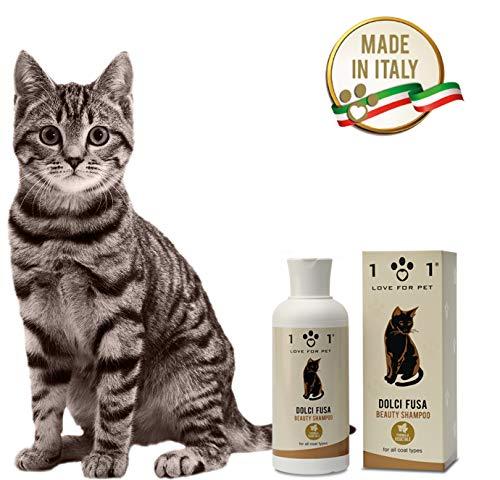 101 love for pet Shampoo Dolci Fusa per Gatti, arricchito con Ingredienti di Origine...