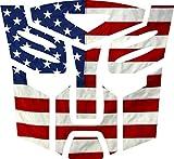 Evan Decals USA Flag Transformer Autobot Window Decal Vinyl Sticker 6'