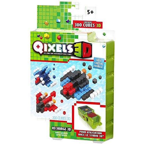 Kanaï Kids–kk87050–qixels 3D–Nachfüllpack Raumschiffe