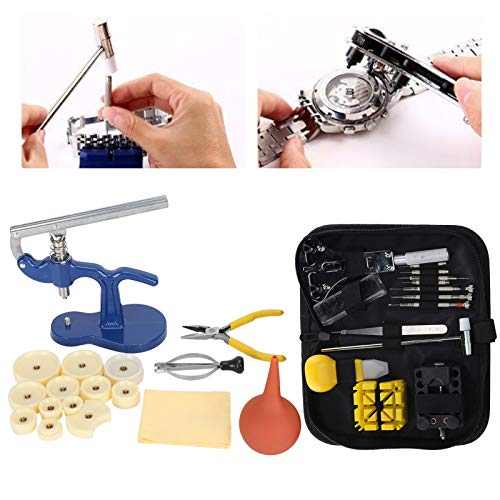 Watch Repairing Tools Kit, Watch Cover Opener Watch Press Machine Back Case Pry Watch Back Removal Tool Watchmaker Repair Accessory Set For Watch Repairing Openning