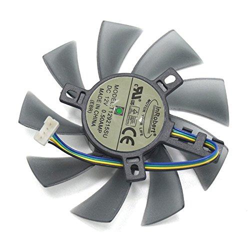 Ventilador de tarjeta gráfica con dos rodamientos de bolas, 85 mm de diámetro, 40 x 40 x 40 mm, ventilador de refrigeración para tarjeta de video Gigabyte GeForce GTX1060 1050