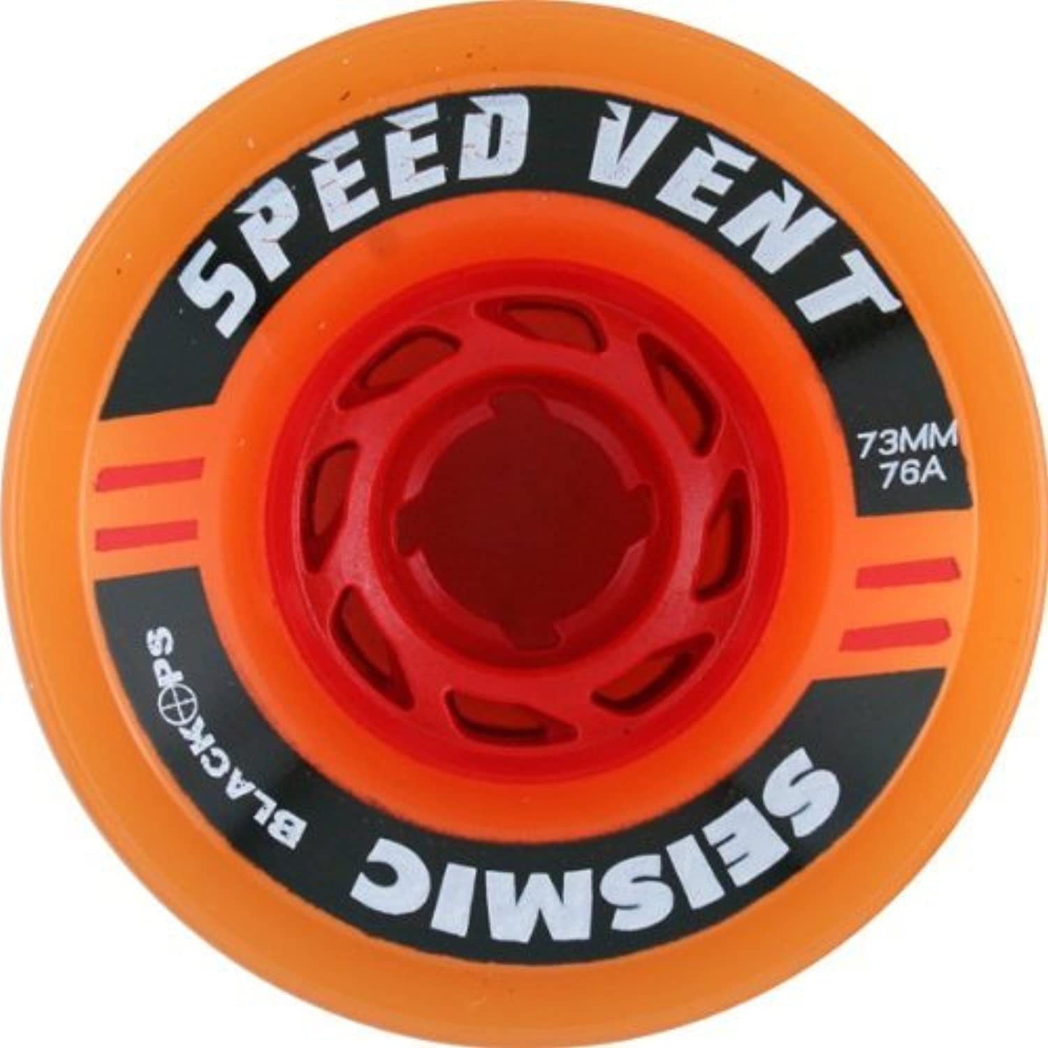 Seismic Speed Vent 73mm 76a Trans orange Red Wheels (Set Of 4) by Seismic