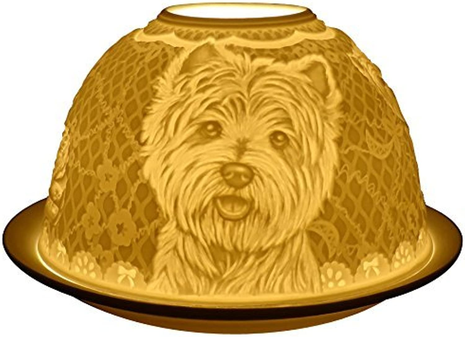 2X Candle Holder Westie Dogs