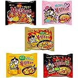 ブルダック炒め麺5種10食セット オリジナル、チーズ、カルボ、湯麺、カレー