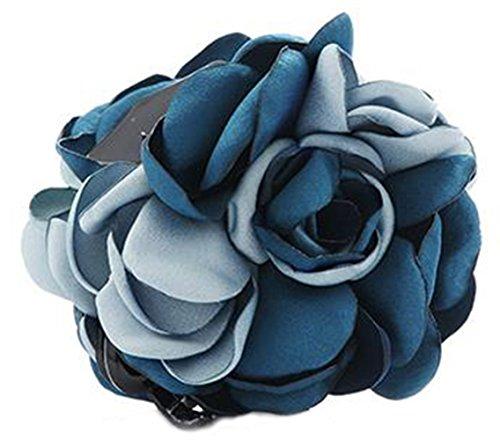 Fleurs/cheveux Barrette pince à cheveux pour les femmes/Lady/Girls Hair Ornament, Bleu # 23