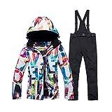 Queenhairs Damen Skianzug Anzug Winter Winddicht Wasserdicht Warm Snowboard Top Hosenanzug