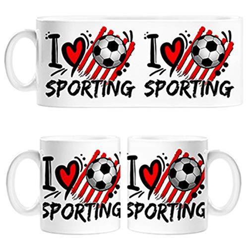 Diver Tazas Taza Frase I Love Sporting para futboleros - Cerámica
