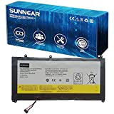 SUNNEAR L12M4P62 Battery Replacement for Lenovo Ideapad U530 Touch 80AS Series Laptop L12L4P62 121500200 121500199 7.4V 52Wh 7100mAh -(Long Cable)