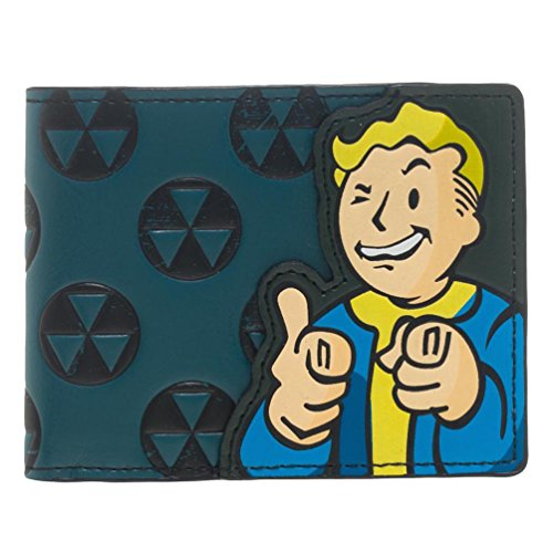 Bethesda Fallout 4 Vault Boy Appliqué With Embossing Bi Fold Wallet Costume Accessory